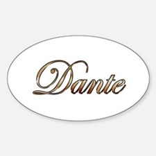 Gold Dante Decal