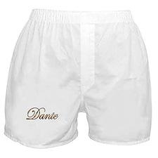 Gold Dante Boxer Shorts