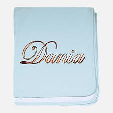 Gold Dania baby blanket