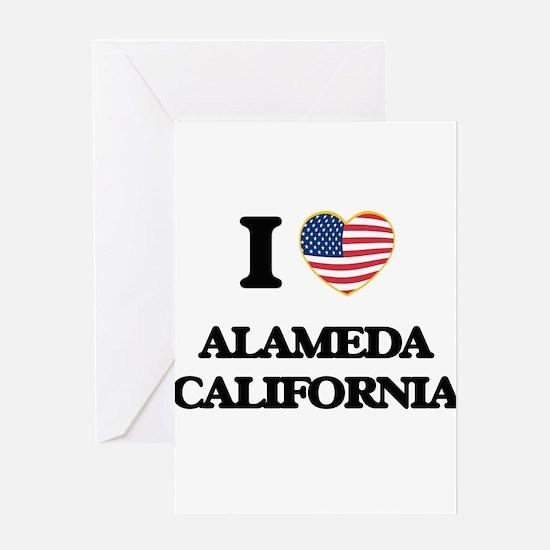 I love Alameda California USA Desig Greeting Cards