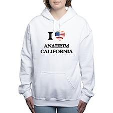 I love Anaheim Californi Women's Hooded Sweatshirt