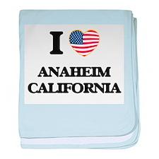 I love Anaheim California USA Design baby blanket