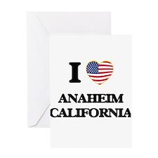 I love Anaheim California USA Desig Greeting Cards