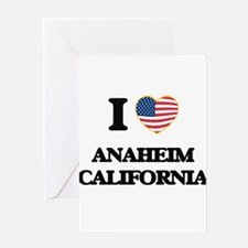 I love Anaheim California USA Desig Greeting Cards