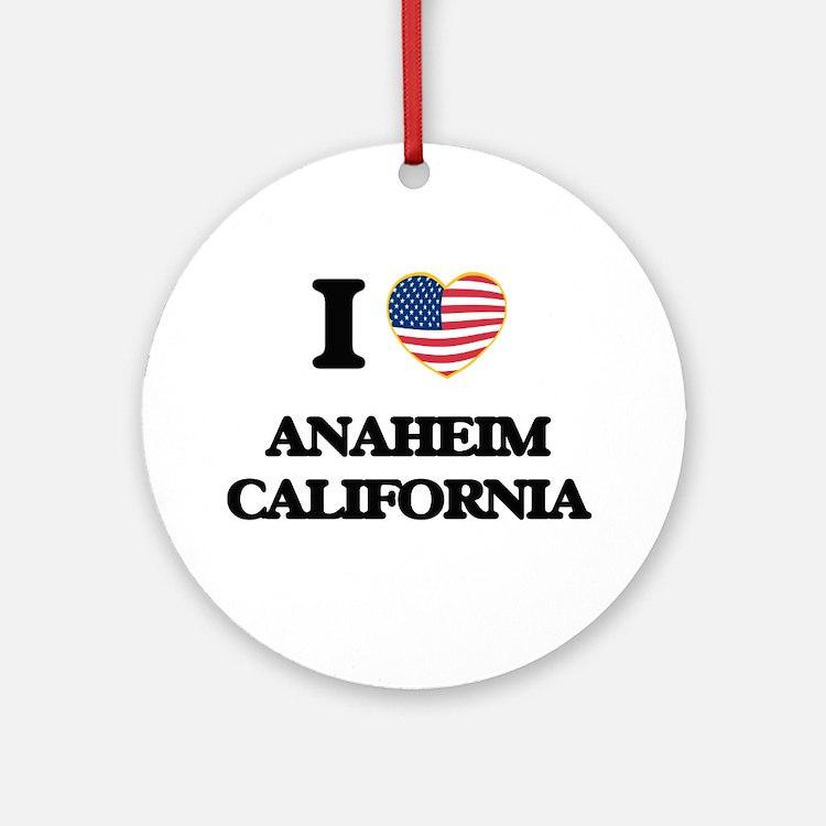 I love Anaheim California USA Des Ornament (Round)