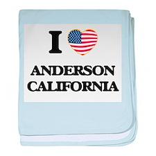 I love Anderson California USA Design baby blanket