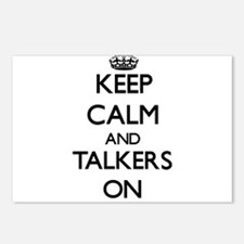 Keep Calm and Talkers ON Postcards (Package of 8)