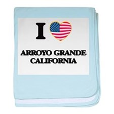 I love Arroyo Grande California USA D baby blanket
