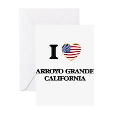 I love Arroyo Grande California USA Greeting Cards