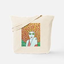 Funky Redhead Tote Bag