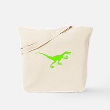 Velociraptor Silhouette (Green) Tote Bag