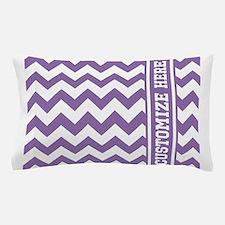 Customized Purple Chevron Pattern Pillow Case
