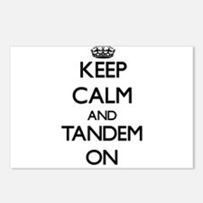 Keep Calm and Tandem ON Postcards (Package of 8)