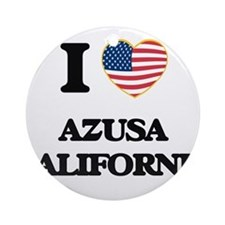 I love Azusa California USA Desig Ornament (Round)