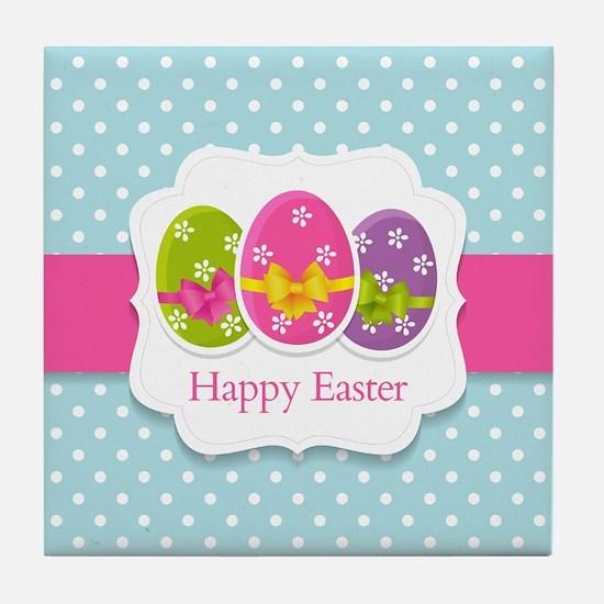 Happy Easter Tile Coaster