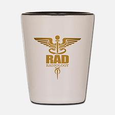 Radiology Gold Shot Glass
