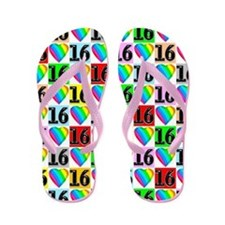 Loving Hearts 16th Flip Flops