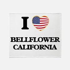 I love Bellflower California USA Des Throw Blanket