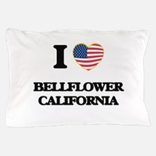 I love Bellflower California USA Desig Pillow Case