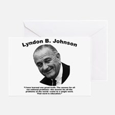 LBJ: Education Greeting Card