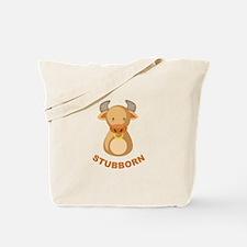 Stubborn Bull Tote Bag