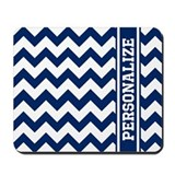 Blue chevron Mouse Pads