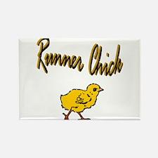 Runner Chick Rectangle Magnet