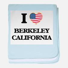I love Berkeley California USA Design baby blanket