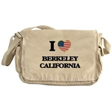 I love Berkeley California USA Desig Messenger Bag