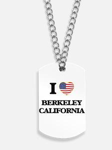 I love Berkeley California USA Design Dog Tags