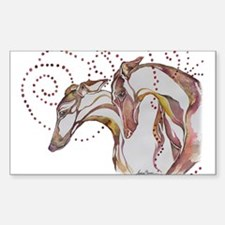 Greyhound Swirls Decal