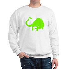 Diplodocus Silhouette (Green) Sweatshirt