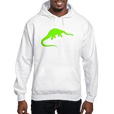 Diplodocus Silhouette (Green) Hoodie
