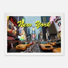 New York City Times Square Pro Phot 5'x7'Area Rug