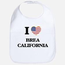 I love Brea California USA Design Bib