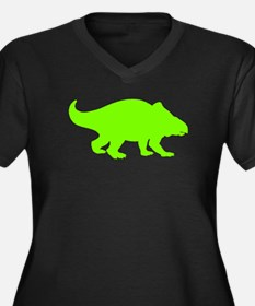 Dinosaur Silhouette (Green) Plus Size T-Shirt