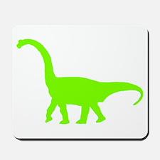 Brachiosaurus Silhouette (Green) Mousepad