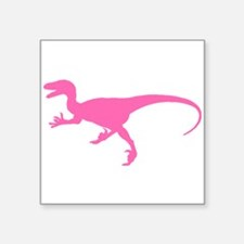 Velociraptor Silhouette (Pink) Sticker