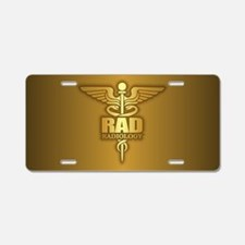 Radiology Gold Aluminum License Plate