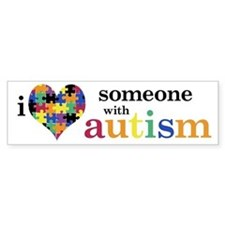 I HEART Someone with Autism - Bumper Stickers