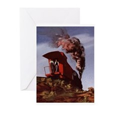 Cute Steam trains Greeting Cards (Pk of 20)
