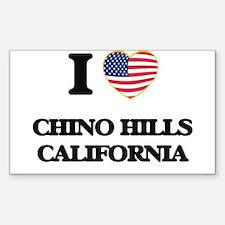 I love Chino Hills California USA Design Decal
