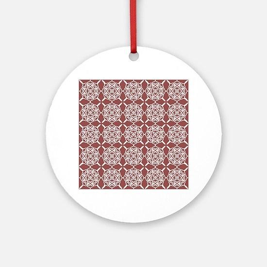 Marsala Doily Ornament (Round)