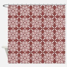 Marsala Doily Shower Curtain