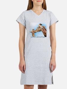 Love Giraffes Women's Nightshirt