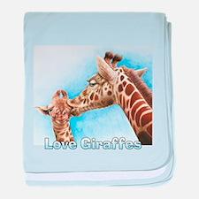 Love Giraffes baby blanket