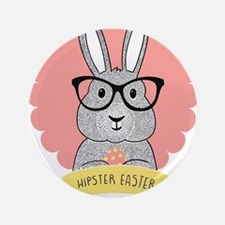 """Hipster Easter 3.5"""" Button (100 pack)"""