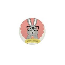 Hipster Easter Mini Button (100 pack)