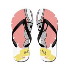 Hipster Easter Flip Flops