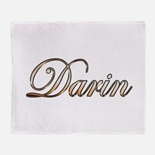 Gold Darin Throw Blanket